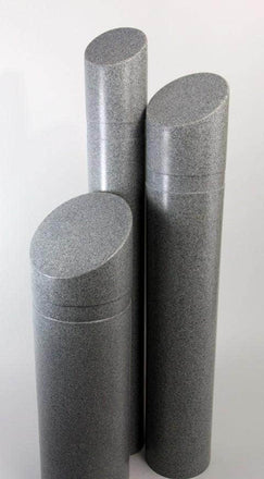 Decorative Slant Top Bollard Cover - Charcoal Gray Granite