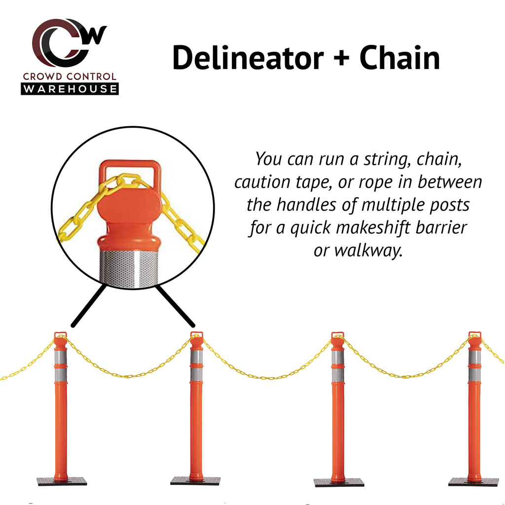 Delineator with Chain