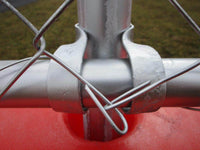Jersey Barrier Chain Link Fencing Connection with Included Purlin Clamp