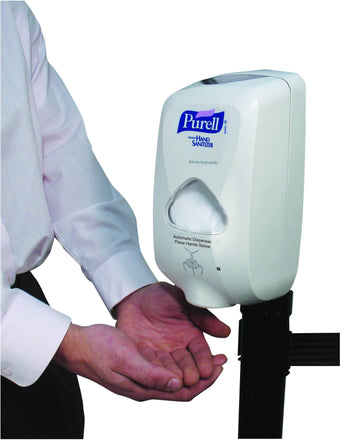 Automatic Hand Sanitizer Dispenser for Visiontron Retracta-Belt Barrier