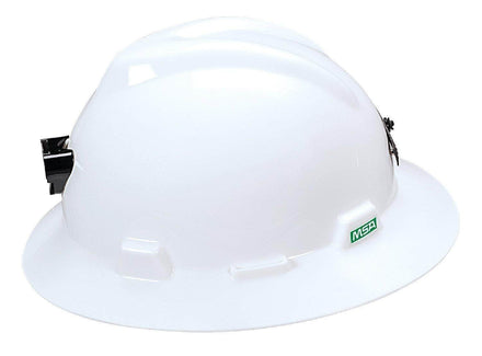 MSA Specialty V-Gard Staz-On White Full Brim Hard Hat Protective Helmet
