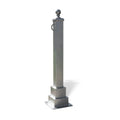 Hampton Square Decorative Bollard - 1 Chain Loop - 4 Ft.
