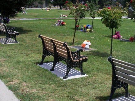 Floral Wood Park Bench - 48 In.