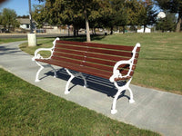 Classic Wood Park Bench - 80 In.