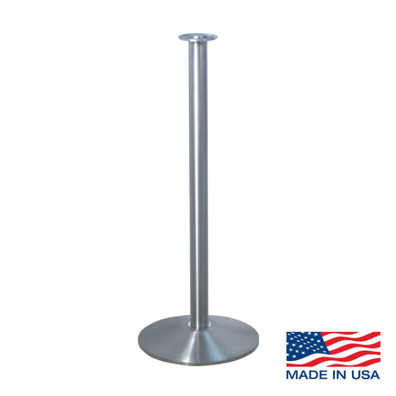 Heavy Duty Sloped Base Rope Stanchion with Flat Top