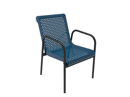Stacking Chair  - Circular Pattern / Punched Steel