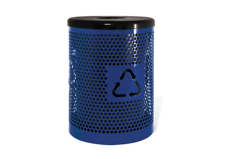 Trash Receptacle with Recycling Logo - 32 Gallon Capacity