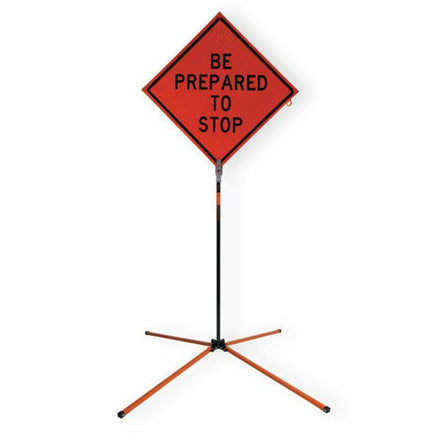 "SafeZone 60"" Springless Traffic Sign Stand"