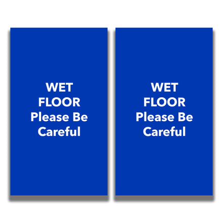 2-Sided Sign - 'WET FLOOR Please Be Careful'