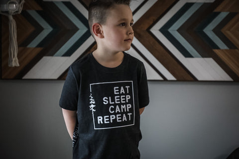 EAT. SLEEP. CAMP. REPEAT. YOUTH TEE SHIRT