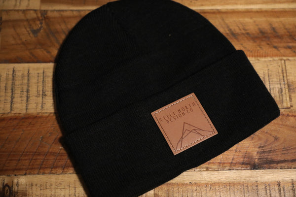 LEATHER PATCH TOQUES