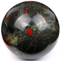 Natural 50mm Tumbled African Bloodstone Healing Crystal Sphere