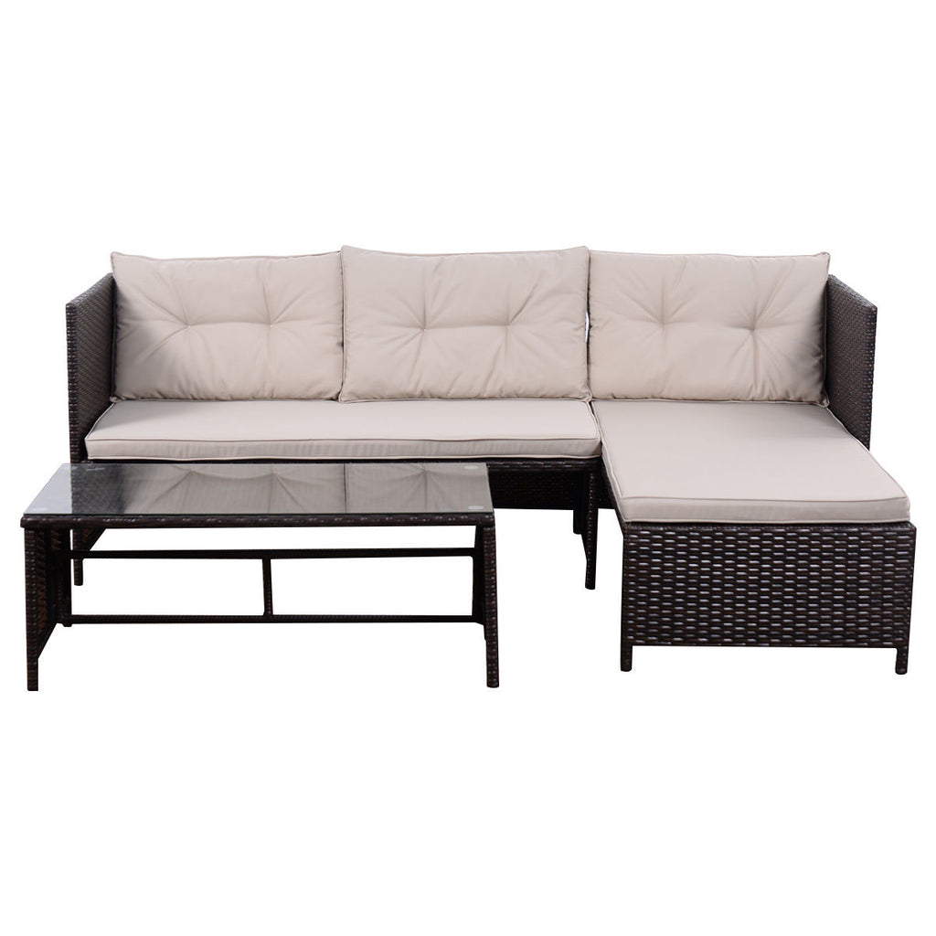 ... Outdoor Rattan Sofa Sectional, Sofa Set With Lounge Chaise ...