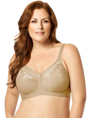 Elila Embroidered Microfiber Soft Cup Bra 1301