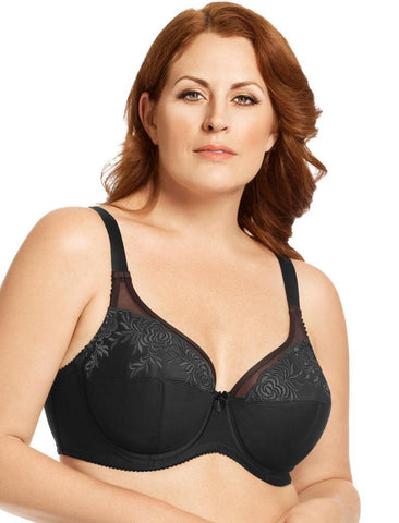 Elila Embroidered Microfiber Underwire Bra 2401
