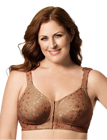 bfc7ae55d Elila Jacquard Front Hook Softcup Bra 1515