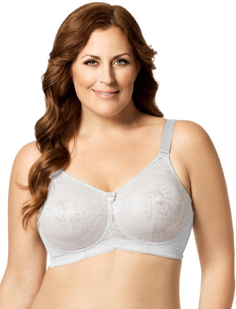b6d8980b45 Elila Lace Soft Cup Bra in White