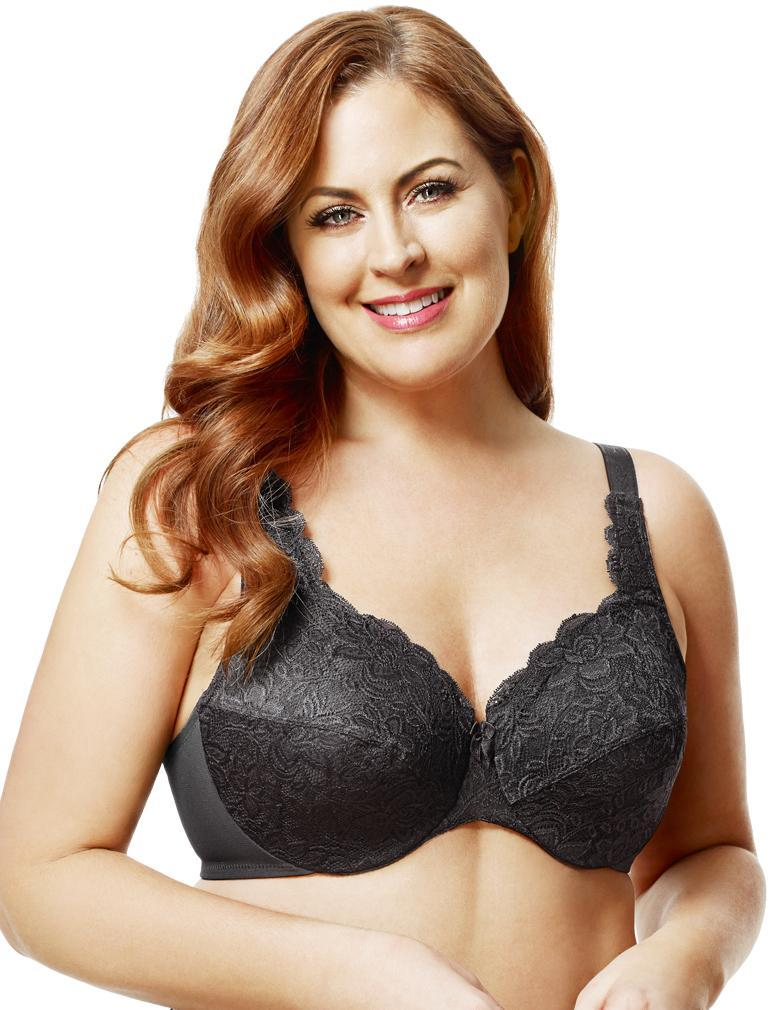 a8ca70feb2 Elila Stretch Lace Underwire Bra in Black