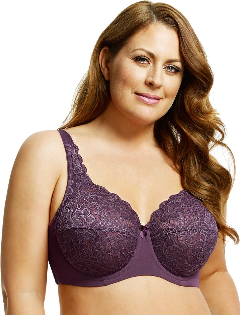 Full Coverage Stretch Lace Underwire Bra 2311