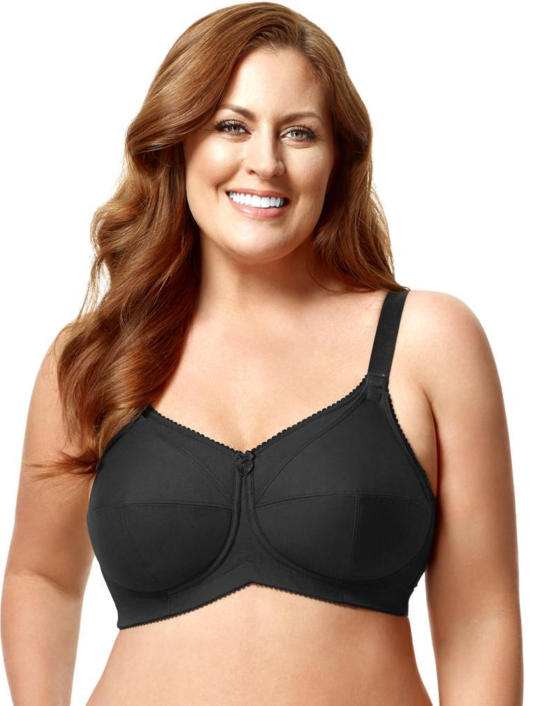 fa5fdb4aa9c Elila Cotton Soft Cup Nursing Bra 1613 in Black