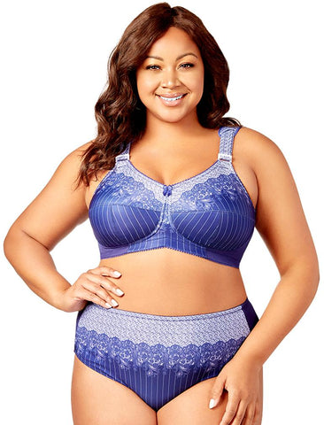 Printed Pinstripe Full Coverage Softcup Bra 1505