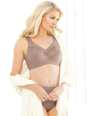 Glamorise Embroidered MagicLift Full Figure Soft Cup Bra 1016