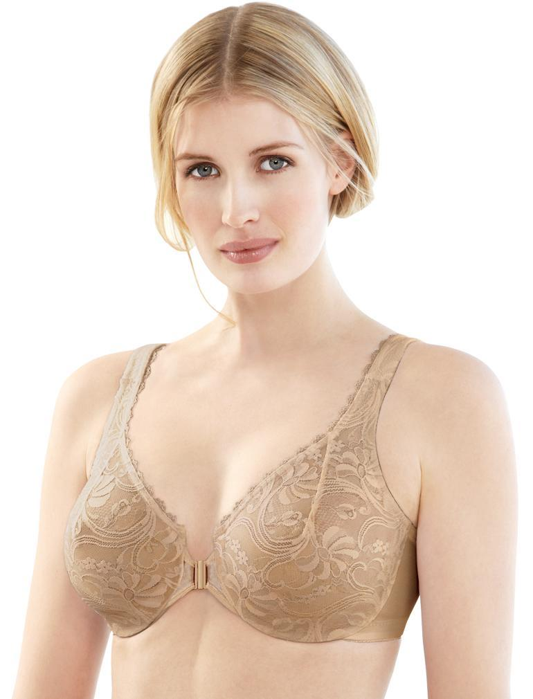 Glamorise Front Closing Stretch Lace Bra 9245