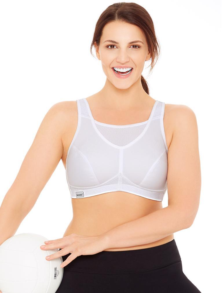 14ce336f3 Glamorise No-Bounce Cami Sports Bra in White