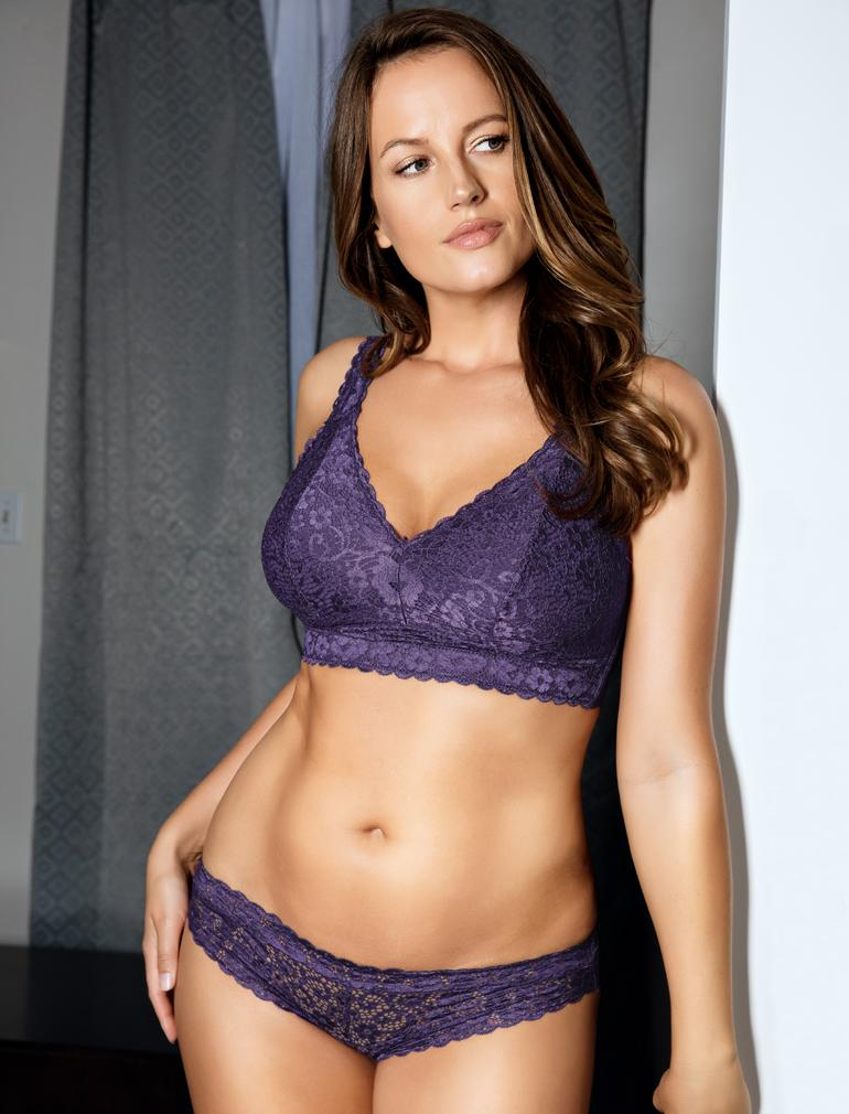 4cfd7f2f73 Parfait Adriana Lace Bralette in Mulberry