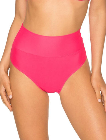 Fold Over High Waist Bikini Bottom 33B