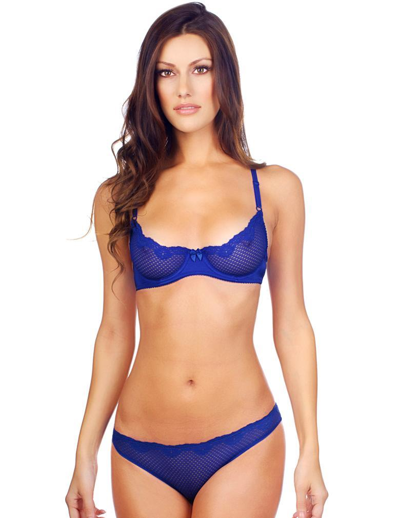 ace9eeaa7b755 Timpa Duet Lace Demi Bra 16449 in Electric Blue