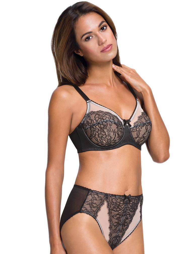 3aa355292c Wacoal Retro Chic Full Figure Underwire Bra in Black