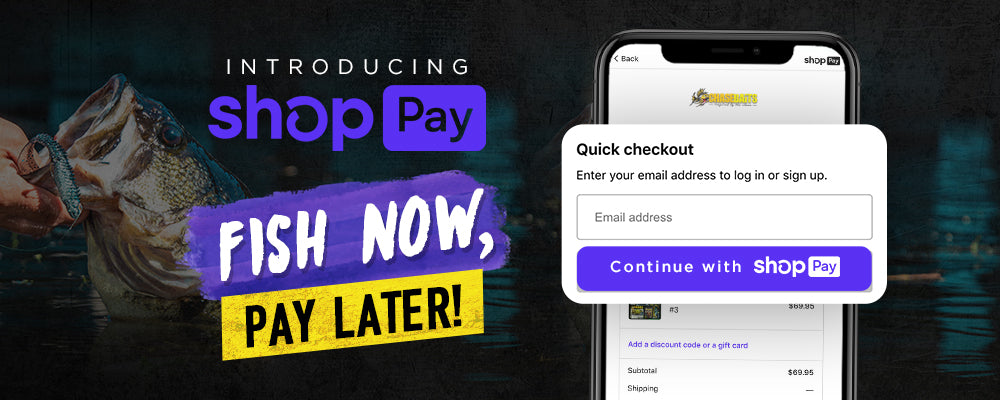 Introducing Shop Pay - Fish Now, Pay Later
