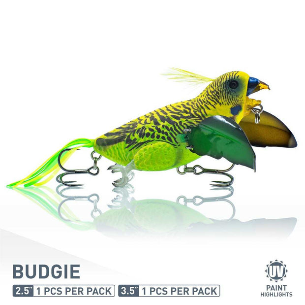 The Smuggler Bass fishing lure by Chasebaits in Budgie Color