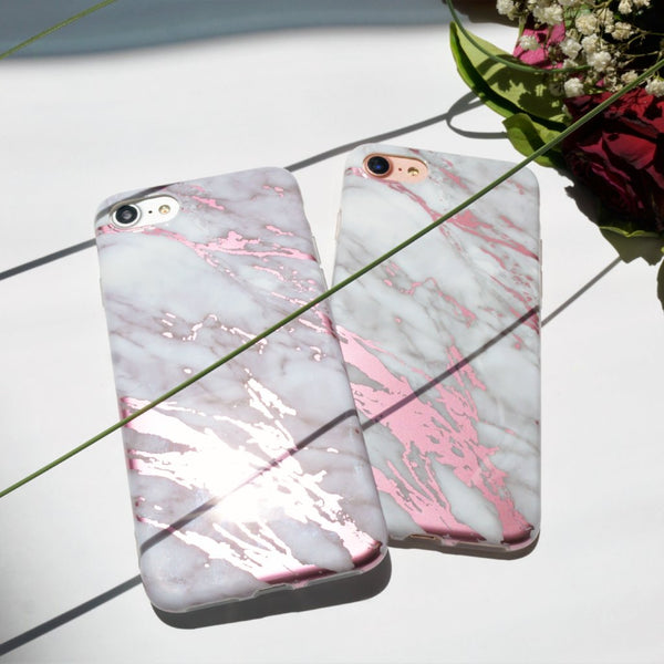 Marble iPhone Case Pink Chrome - Case&Co.