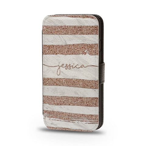 Personalised Flip Phone Case Name Glitter - Case&Co.