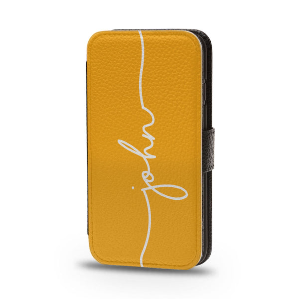 Personalised Flip iPhone Case Yellow - Case&Co.
