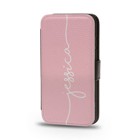 Personalised Flip iPhone Case Pink