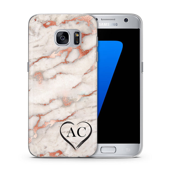 Personalised Phone Case Samsung Rose Gold Marble - Case&Co.