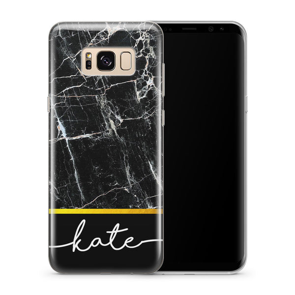 Personalised Phone Case Samsung Galaxy Marble Cover - Case&Co.