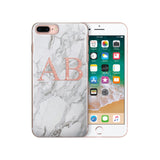 Personalised Initials Custom iPhone Case Marble - Case&Co.