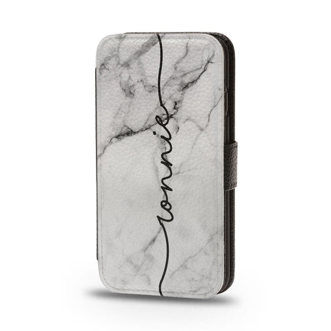 Personalised Flip Phone Case Marble Custom Name - Case&Co.
