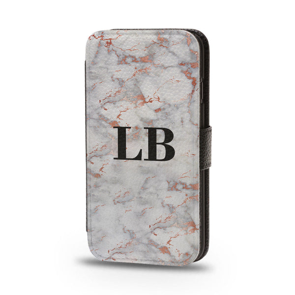 Personalised Flip Wallet Phone Case Marble - Case&Co.