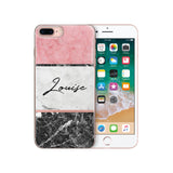 Personalised Name Custom iPhone Case Pink Black - Case&Co.