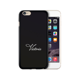 Personalised Name iPhone Case Gel Black Handwritten - Case&Co.