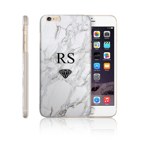 Personalised Initial Monogram Phone Case Marble Diamond - Case&Co.
