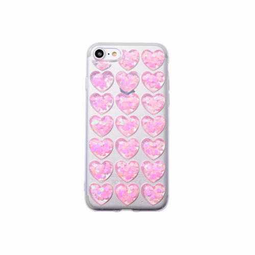 3d hearts phone case