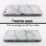 Marble iPhone Case Rose Gold Chrome - Case&Co.