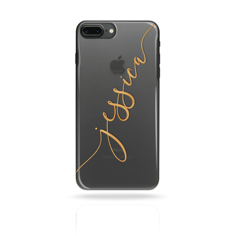 Personalised Custom Name Initial Phone Case Yellow - Case&Co.