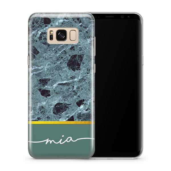 Personalised Phone Case Samsung Galaxy Marble Green - Case&Co.